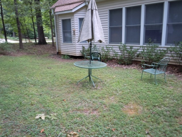 Before the patio